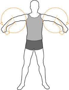 Rotate the arms as warm up