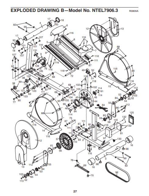 Nordictrack 990 user manual exploded diagram B