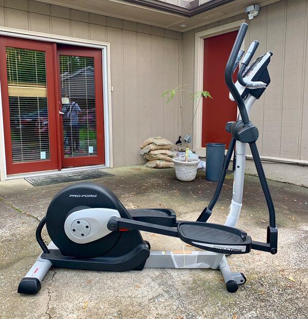 proform 600 le elliptical outside