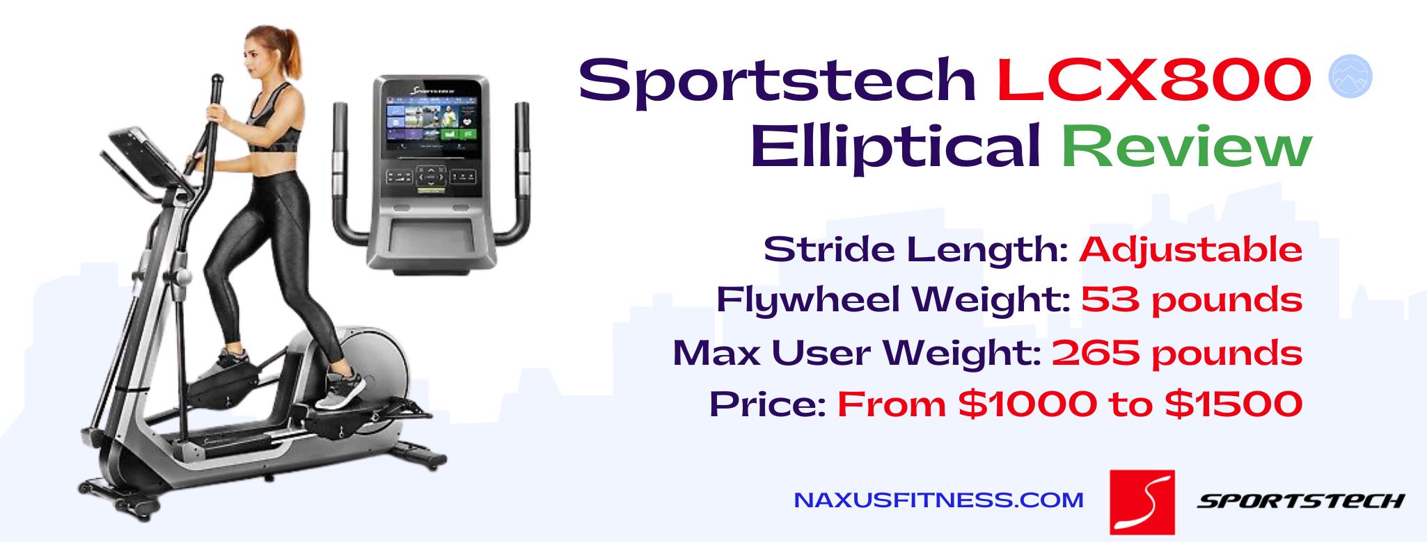 Sportstech LCX800 Elliptical Features