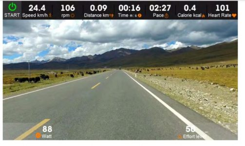 Sportstech LCX800 Virtual scene
