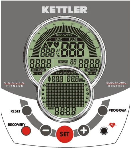 kettler mondeo p console display