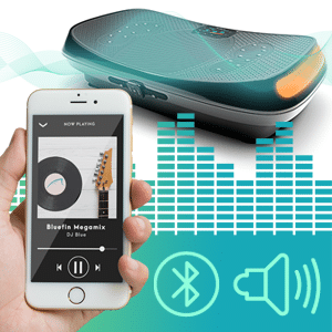 Bluefin fitness 4d Vibration Platform bluetooth connectivity