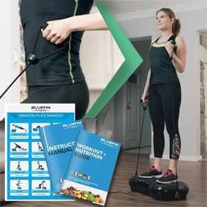 Bluefin ultra slim vibration plate exercises, manual