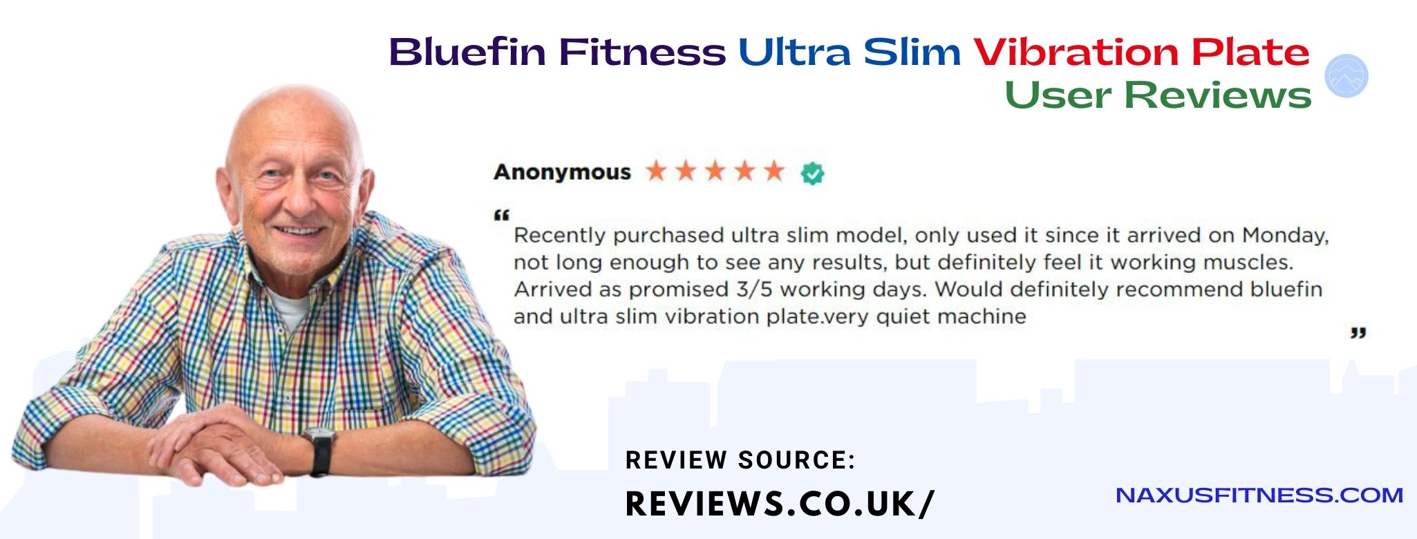 Bluefin ultra slim vibration platform features great for older people