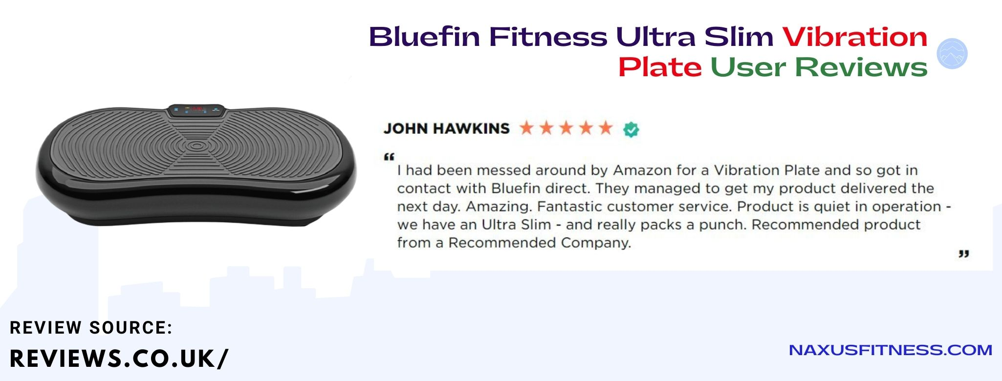 Bluefin ultra slim vibration user reviews