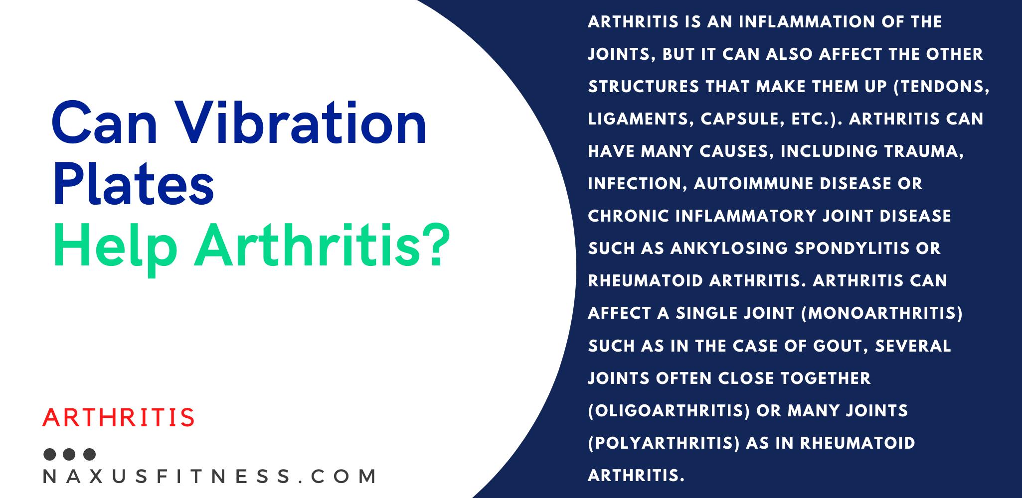 can vibration platforms help with Arthritis